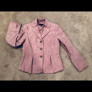 Talbots wool jacket pink color size 4